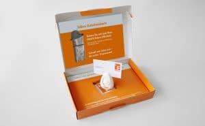3D-Mailing B2B-Lead Generierung | Schachtel geöffnet