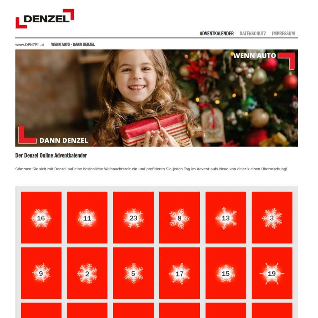 Denzel Online Advent-Kalender